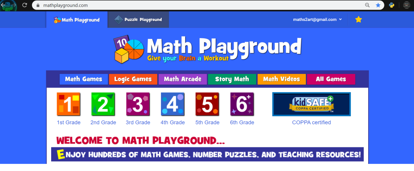 Math Playground Maths2art